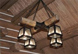 Log Cabin Lighting Fixtures Rustic Lighting Fixtures For Cabins Lodge Western Rustic Log Cabin