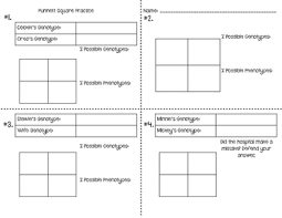 punnett square cartoon character task cards by smith science and lit