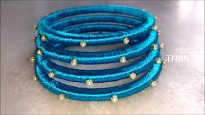 silk home how to make silk thread bangles at home indian silk thread