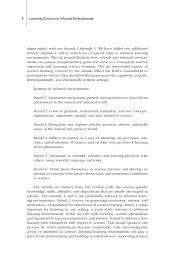 summary learning science in informal environments people