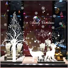 Christmas Window Cling Decorations by Christmas Window Clings Glues Decoration Christmas Tree Reindeer