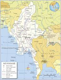 Southeast States And Capitals Map by Administrative Map Of Myanmar Burma Nations Online Project
