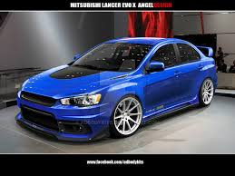 mitsubishi evo 7 custom mitsubishi lancer evo x angeldesign front view by adbodykits on