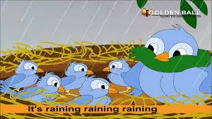 it u0027s raining raining raining rhyme rain songs for kids i english