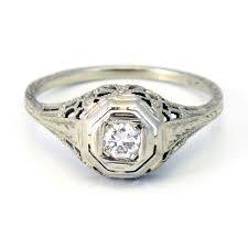 vintage wedding rings 1920 18k antique art deco 1920s diamond