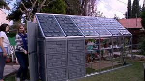 Palram Polycarbonate Greenhouse Palram Grow U0026 Store Greenhouse Shed Combo Youtube