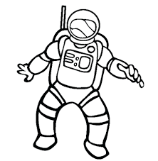 astronaut coloring pages printable for preschool spaceship to