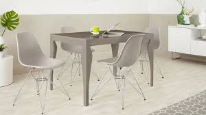 eames wire side table 4 seater dining set taupe grey gloss eames dining chairs