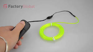 h8931 3m flexible neon light el wire tube with controller