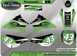 custom motocross helmet wraps kawasaki klx 125 l custom graphics kit on behance