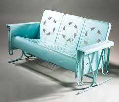 Modern Metal Garden Furniture Retro Patio Chairs Retro Metal Patio Chairs Bellaire Double Glider