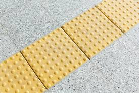 colors close to yellow blind floor tiles stock image image of track background 41454339