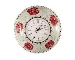 Decorative Wall Clock Silver Mosaic Decorative Wall Clock