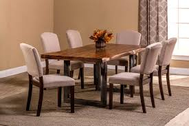 hillsdale emerson 7 piece rectangle dining set natural sheesham