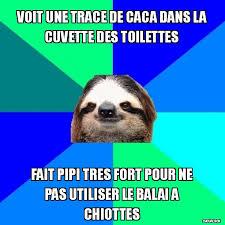 Meme Caca - voit une trace de caca dans la cuvette des toilettes meme