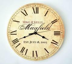 personalized wedding clocks personalized wedding gifts clocks