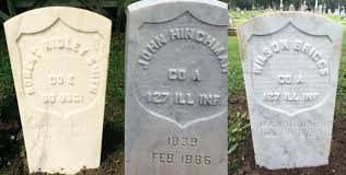 headstone markers 22 new markers recognize civil war soldiers in illinois