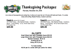 thanksgiving meal packages tamura market