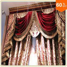 Burgundy Curtains With Valance Burgundy Wine Custom Free Shipping Hotel Curtains Classic Royal