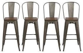 metal rustic bar stools set of 4 antique bronze industrial