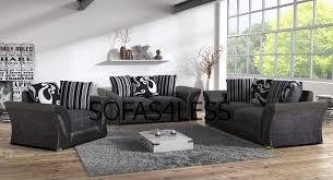 ebay sofas for sale farrow shanon 3 2 seater sofa armchair footstool black grey