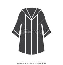 white graduation gowns graduation clothes accessories set ceremonial gown stock vector