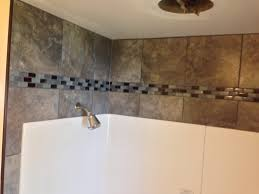 tile above shower surround bathroom pinterest shower