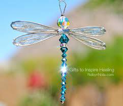 unique dragonfly gifts brilliant blue swarovski dragonfly sun catcher