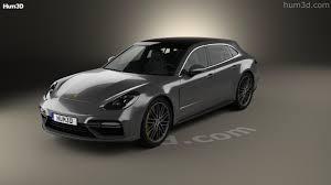 360 View Of Porsche Panamera Sport Turismo Turbo 2017 3d Model