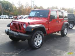 2011 Wrangler 2011 Jeep Wrangler Unlimited Sport 4x4 In Flame Red 514665 Jax