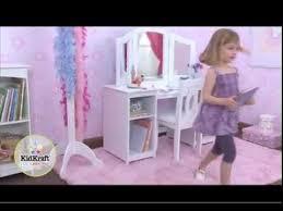Kidkraft Swivel Vanity Girls Dressing Table Girls Vanity Unit For Fun Dressing Up Time