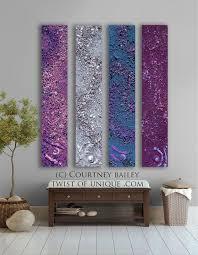 midnight sky abstract painting 4 panel custom acrylicrete wall