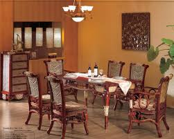 classy dark brown wooden square dining table combined with brown