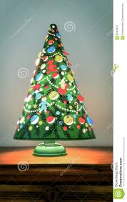 a spinning vintage christmas tree lamp vertical stock photo