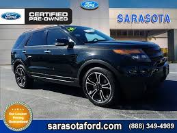 pre owned ford explorer sport certified pre owned 2014 ford explorer sport navigation blind