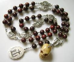 rosary of the seven sorrows skull sandalwood bead seven sorrows rosary catholic rosary