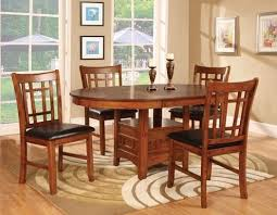 Round Dining Room Tables For 4 by Round Dining Table U0026 4 Chairs With 18 Inch Leaf Home Interiors