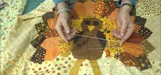 how to quilt a thanksgiving turkey wall hanging or throw