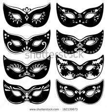 black and white mardi gras masks mardi gras mask stock images royalty free images vectors