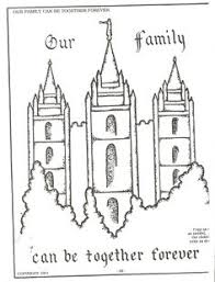 coloring pages for nursery lds melonheadz lds illustrating i love to see the temple coloring page