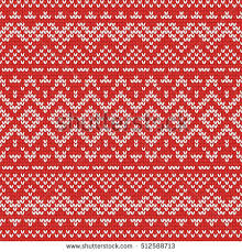 knitting seamless pattern nordic ornaments stock vector
