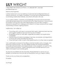 Examples Of Cover Letters For Resume by Best Customer Service Representative Cover Letter Examples