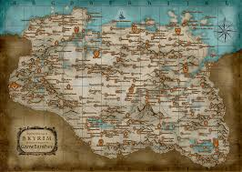 Cool Maps Of The World by Cool Looking Framed Elder Scrolls Maps Video Games Level1techs