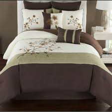green bed set buy green and brown comforter set from bed bath beyond
