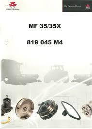 massey ferguson 35 35x parts manual 819045m4 farmingparts com