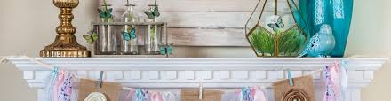 how to decorate a mantel for spring diy burlap banner life storage