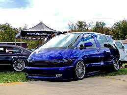 slammed audi wagon this stanced toyota previa is the shaggin u0027 wagon of the century