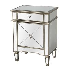 Inexpensive Bedroom Furniture Furniture Mirrored Nightstand Cheap With Two Drawers For Bedroom