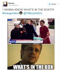 Whats In The Box Meme - first lady melania gives michelle a gift from tiffany daily mail