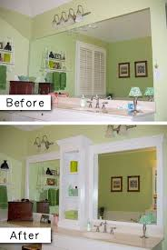 bathroom mirrors with storage ideas 27 easy diy remodeling ideas on a budget before and after photos